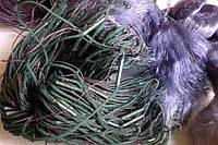 Сеть рыболовная порежная синяя 100м высота 1.60м ячея от 30 до 80мм со вшитым грузом