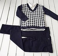 Детский костюм - свитер , рубашка , брюки -  для мальчика на 4 - 6 лет