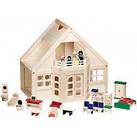 Меблированный деревянный домик - Melissa & Doug