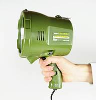 Прожектор-ксенон, с ручкой, корпус зеленый, диаметр 156мм, вес 2 кг, 3600 Lm, 12В, точечный