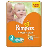 Pampers Sleep&Play 3 ( 4-9 ) 78 шт!