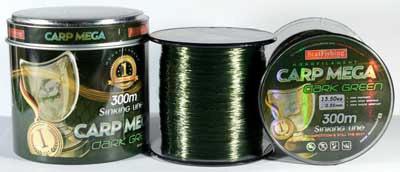 Леска 300м 0,30 BratFishing Carp Mega Dark Green