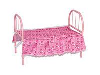 Кроватка для кукол металлическая 3889
