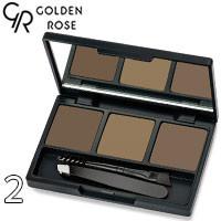 Golden Rose - Набор для коррекции бровей Eyebrow Styling Kit Тон 02 ash, дымчатый беж