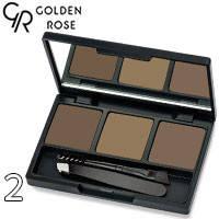 Golden Rose - Набор для коррекции бровей Eyebrow Styling Kit Тон 02 ash, дымчатый беж, фото 2