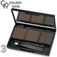 Golden Rose - Набор для коррекции бровей Eyebrow Styling Kit Тон 03 deep brown, коричневые