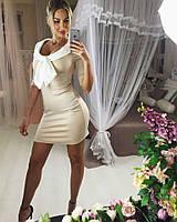 Женское красивое платье с бантиком (в расцветках)