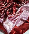 Восхитительный женский платок 90 на 90 Dress #68_13 красный, фото 2