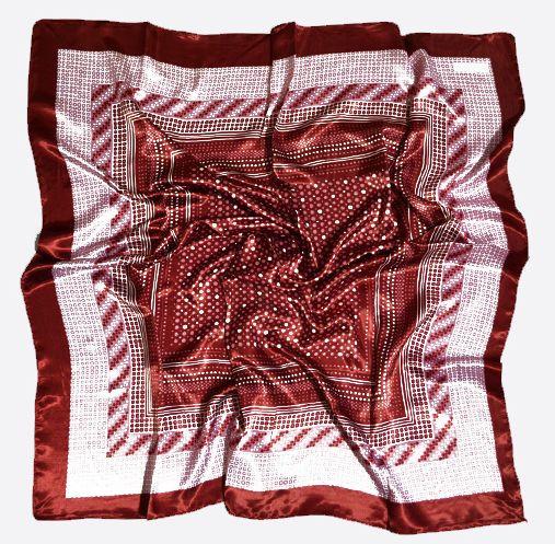 Восхитительный женский платок 90 на 90 Dress #68_13 красный