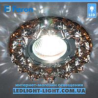 Врізний точковий світильник Feron CD2542 скло, коричневий