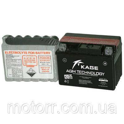Аккумулятор KAGE YTX4L-BS-A