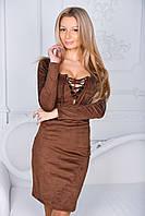 Платье женское замша, фото 1