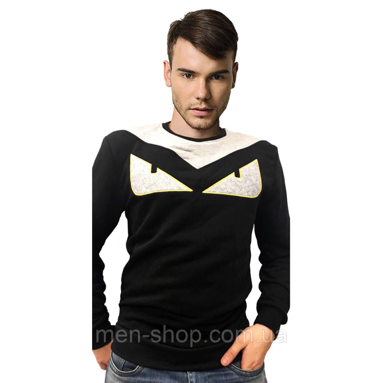 Толстовка мужская черного цвета в стиле Fendi ХЛ