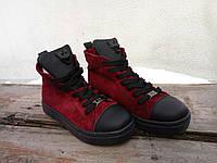 Зимние замшевые ботиночки Plein
