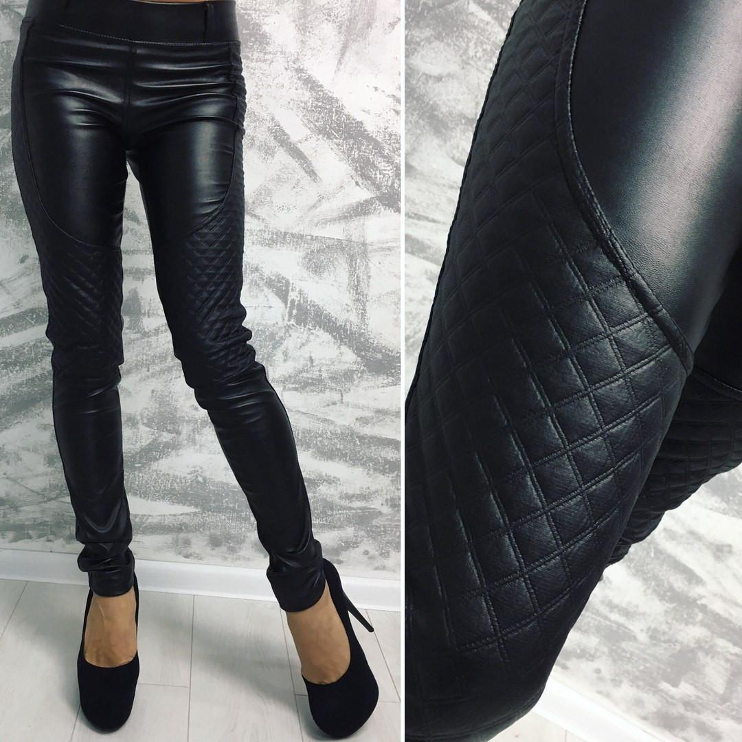 572591f3b724f Женские модные кожаные лосины (леггенсы) -