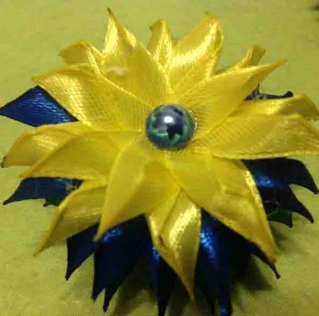 Магнит Патриотический №4 желто-голубой