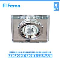 Врезной точечный светильник Feron 8170-2 стекло, прозрачный хром.
