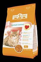 КЛУБ 4 ЛАПЫ 3 кг сухой корм для кошек выведение шерсти Hairball Control