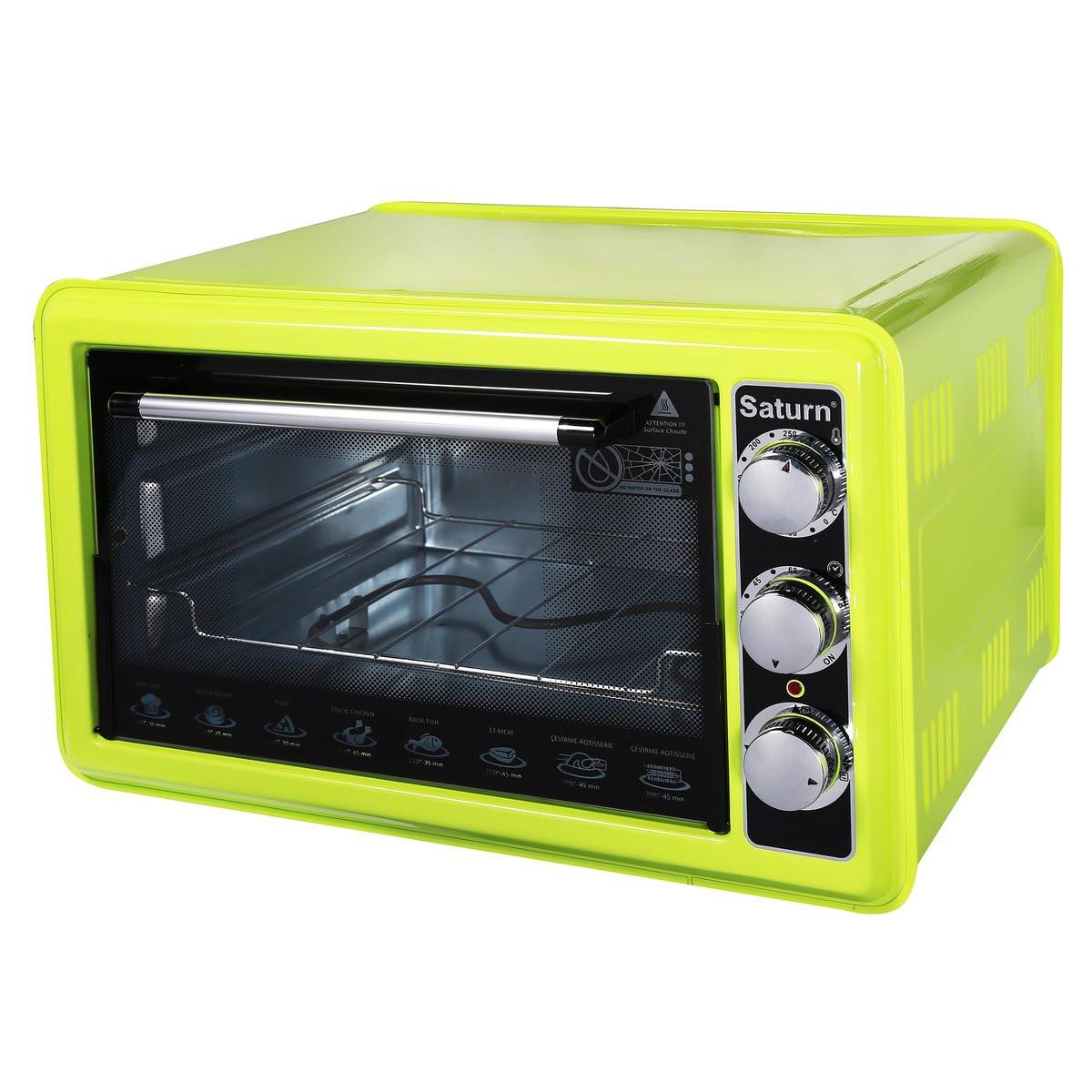 Электрическая печь (электродуховка) Saturn ST-EC1075 Green (зеленая)