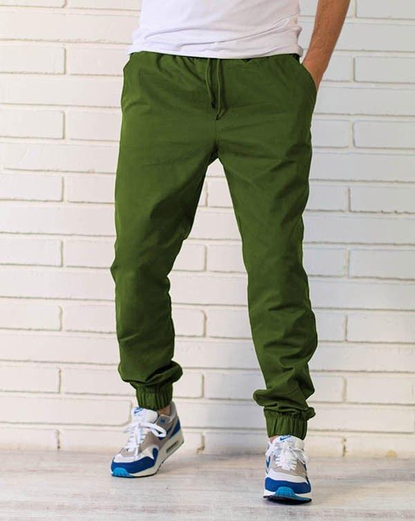 Брюки джоггеры зеленые