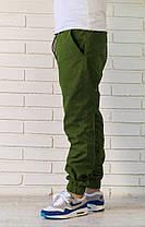 Брюки джоггеры зеленые, фото 2