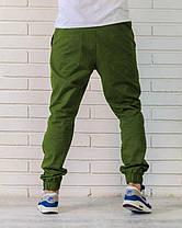 Брюки джоггеры зеленые, фото 3
