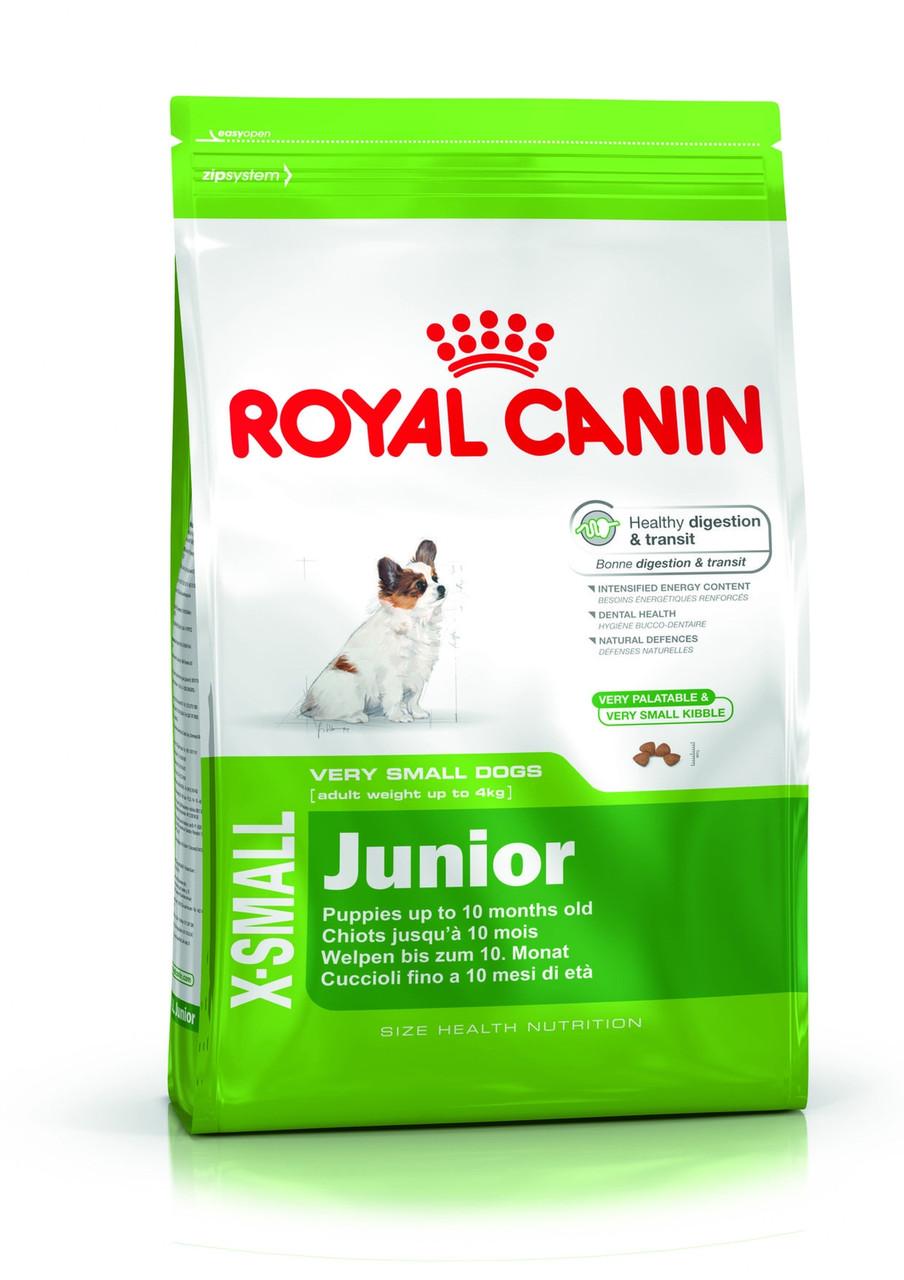 """Корм для щенков до 10 месяцев 3 кг. Royal Canin (Роял Канин) X-Small Junior  - Интернет - магазин """"Зоомир"""" в Одессе"""