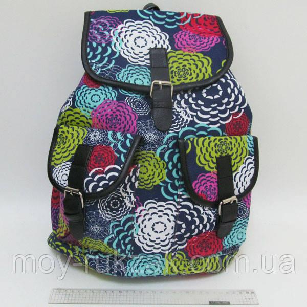 """Молодежный рюкзак Josef Otten """"Цветочные узоры, бабочки"""""""