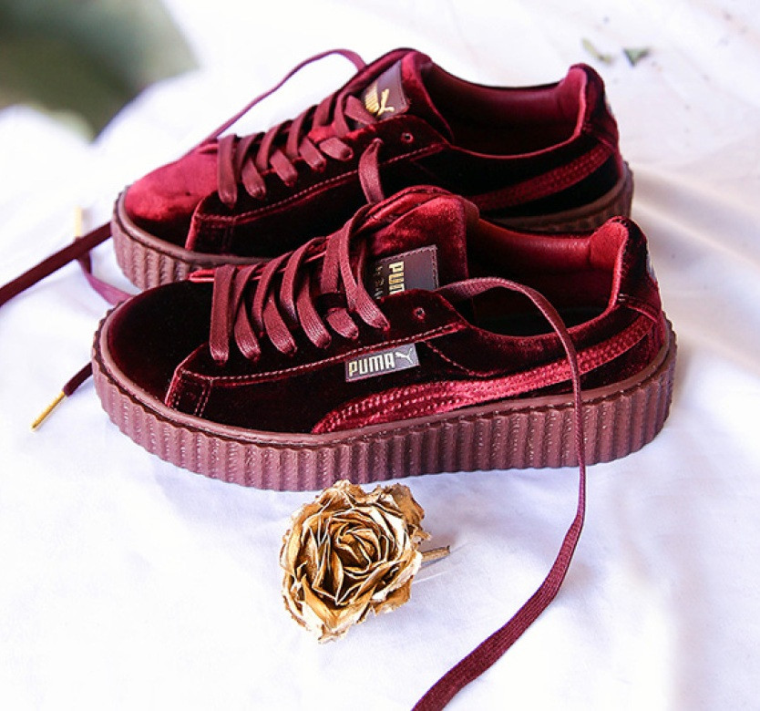 5b21b287c37b Женские кеды Puma x Fenty by Rihanna Velvet топ реплика - Интернет-магазин  обуви и