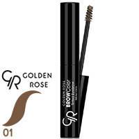 Golden Rose - Тушь-тинт для бровей Tinted Eyebrow Mascara Тон 01 темный беж, фото 2