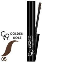 Golden Rose - Тушь-тинт для бровей Tinted Eyebrow Mascara Тон 05 серо коричневая, фото 2