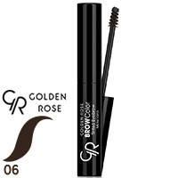 Golden Rose - Тушь-тинт для бровей Tinted Eyebrow Mascara Тон 06 темный шоколад, фото 2