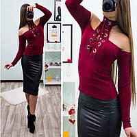 Женская вязаная фотка с открытыми плечами. Материал полиэстирол. Размер универсальный с, м.