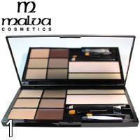 Malva - Набор для коррекции бровей Brow Artistry Palette M-478 Тон 01 светлые