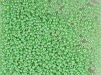 Бісер Preciosa Чехія №17356 1г, зелений перламутровий
