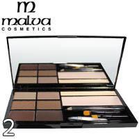 Malva - Набор для коррекции бровей Brow Artistry Palette M-478 Тон 02 средние