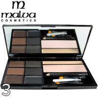 Malva - Набор для коррекции бровей Brow Artistry Palette M-478 Тон 03 темные