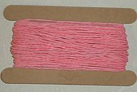 Шнурок бумажный 2мм розово-морковного цвета