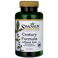 Swanson Premium Century Formula Multivitamin без железа 130 табл.
