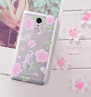 """PZOZ Для Xiaomi Redmi Note 3 / 3 pro с картинкой """"Птица"""""""