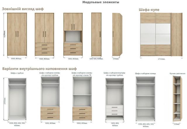 Модульна система Гринвич (элементы, шкаф)