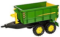 Прицеп 2-х осный на трактор Rolly Toys rollyContainer John Deere зеленый