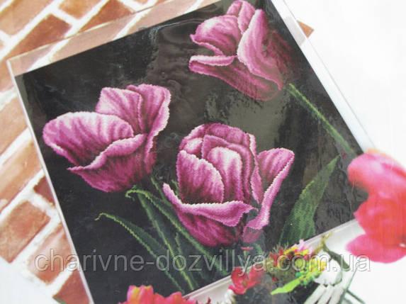 Набор для вышивания крестиком Фиолетовые тюльпаны, фото 2