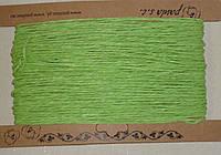 Шнурок бумажный 2мм светло-зеленого цвета, фото 1