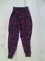 Детские летние брюки султанки для девочки 11129