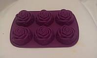 """Силиконовая форма """"Розы"""", 26х17х3 см., 90/80 (цена за 1 шт. + 10 гр.), фото 1"""