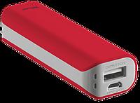 Портативное зарядное устройство Trust Primo Power Bank 2200 red (внешняя зарядка для телефона)