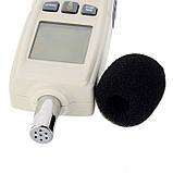 Цифровой шумомер Benetech GM1352 ( измеритель уровня шума ) ( 30 — 130 dB), фото 3