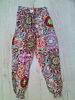 Детские летние брюки султанки для девочки 11131