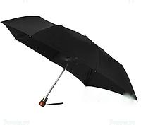 Зонт мужской Zest  автомат 3-сложения, co шнурком из натуральной кожи. art.43630